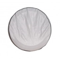 Picture of Just Kampers Spare wheel cover in white.