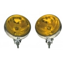 Picture of Fog Lamps (110mm Pair / Amber Glass Chrome Body