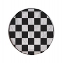 Picture of Black and White Chequered Spare Wheel Cover