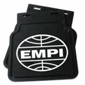 Picture of  MudFlap. Black With White Empi Logo Pair