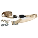 Picture of Seat belt, 2pt static lap. Modern buckle, Cream
