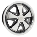 Picture of Alloy Wheel. SSP Fooks Black and Polish.