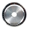 Picture of Aluminium crankshaft pulley. Solid, black. SCAT
