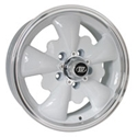 Picture of Alloy Wheel GT 5 spoke, White/polish lip. 5 x 112- 5.5 x 15 ET20