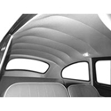 Picture of Beetle Headliner white perforated Vinyl only T1 Aug 71>