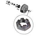 Picture of Castle nut,rear hub nut, >1979,OE 46mm