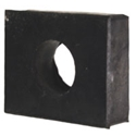 Picture of Beetle Rubber shock pad, front lower 8/1960> and Rear 1952>. 10mm, 15mm hole