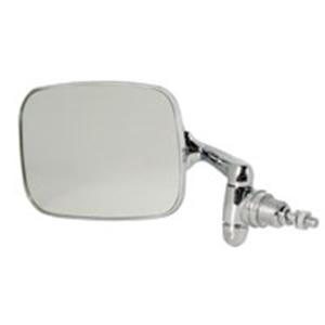 Picture of Beetle Door mirror 8/1967> Left. S/S head, correct RHD arm length