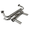 Picture of 2 Tip GT Stainless Steel Exhaust for 1300-1600 Beetle/Ghia.