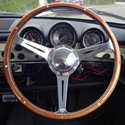 Picture of Beetle , Ghia and Type 3 Steering wheel complete with boss, horn.