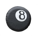 Picture of 8 ball spare wheel cover