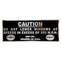 Picture of EMPI sticker Caution 200MPH