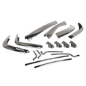 Picture of Bumper Set, S/steel, 56-66, US spec, front and rear