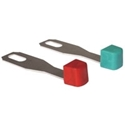 Picture of Heater Lever Set, T2 1968-72, Set of 4, 2x Red, 2x Blue
