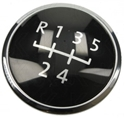 Picture of 5 Speed Gear Knob Badge (Black/Chrome) T5 2003–2013