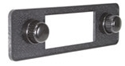 Picture of Black Stereo Faceplate including Knobs and Escutcheons