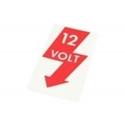 Picture of 12 Volt Door Pillar Sticker VW Beetle 1967–1998
