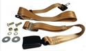 Picture of Lap Belt 2 Point Static with Modern Buckle and Tan Webbing