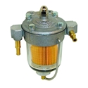Picture of Fuel Filter with 67mm Glass Bowl and 6/8mm Unions